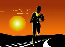 идущая женщина Стоковое Изображение RF