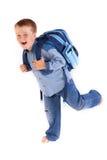 идущая школа к Стоковое Фото
