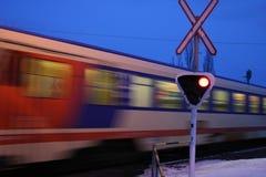 идущий поезд Стоковые Изображения