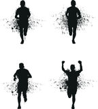 Идущий человек выплеска Стоковое Фото