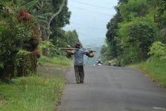 Идущ вокруг деревни, 2-ой вариант стоковое изображение