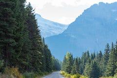 Идущ к дороге Солнця, национальный парк ледника Стоковые Изображения RF