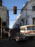 Идущ улицы Лимы стоковые фотографии rf