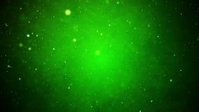 Идя снег с Рождеством Христовым предпосылка зеленого цвета зимнего отдыха видеоматериал