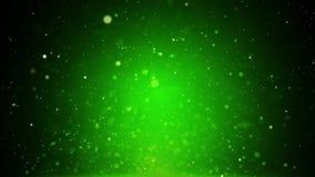 Идя снег с Рождеством Христовым предпосылка зеленого цвета зимнего отдыха сток-видео