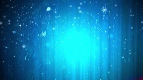 Идя снег с Рождеством Христовым предпосылка зимнего отдыха акции видеоматериалы