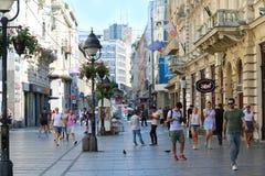 Идя улица Белград Стоковые Фотографии RF