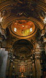 иезуит rome Италии gesu купола церков золотистый внутренний Стоковое фото RF