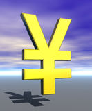 иены символа знака стоковая фотография