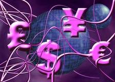 иены фунта евро доллара Иллюстрация вектора