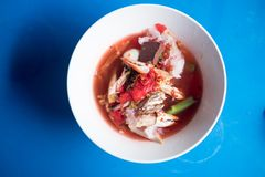 Иен-животики-4 лапшей розового clab морепродуктов плоские стоковая фотография rf