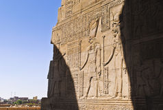 Иероглифы в египетском виске Стоковое Изображение