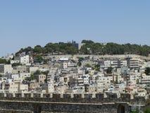 Иерусалим за крепостной стеной стоковое изображение