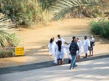 ИЕРУСАЛИМ, ИЗРАИЛЬ - 5-ОЕ ДЕКАБРЯ 2018: Место al-Yahud Qasr Baptismal стоковое изображение rf