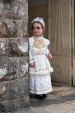 ИЕРУСАЛИМ, ИЗРАИЛЬ - 15-ОЕ МАРТА 2006: масленица urim в известном ультра-правоверном квартале Иерусалима - Mea Shearim Стоковая Фотография RF