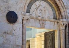 Иерусалим старый город Через delarosa Барельеф над входом к комнате Стоковое Фото