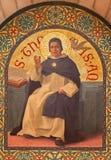 Иерусалим - краска схоластичного философа St. Thomas Aquinas в церков st Stephens от года 1900 Иосиф Aubert Стоковые Фото