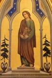 Иерусалим - краска St. John евангелист в церков Flagelltion дальше через Dolorosa стоковая фотография rf