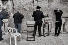 Иерусалим - 15-ое ноября 2016: Люди моля на голося стене Стоковые Изображения RF