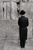 Иерусалим - 15-ое ноября 2016: Люди моля на голося стене Стоковые Фото