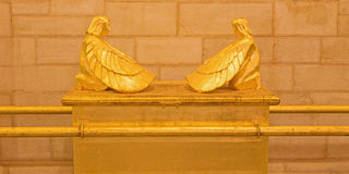 Иерусалим - символический сброс ковчега завета в евангелистской церков лютеранина восхождения стоковая фотография rf