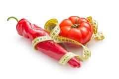 диетпитание принципиальной схемы Перец и томат стоковое изображение rf