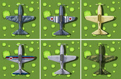 6 дизайнов воинского самолета Стоковое Изображение RF