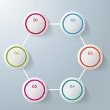 6 дизайнов Infographic шестиугольника кругов бесплатная иллюстрация