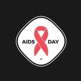 дизайн вектора логотипа Международного дня СПИДА Стоковое Фото