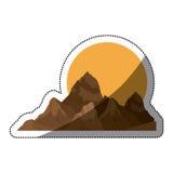 дизайн горы и солнца Стоковые Фотографии RF