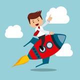 дизайн деятельности при бизнесмена иллюстрация вектора