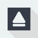 дизайн значка кнопки технологии плоский, значок дизайна музыки студии Стоковая Фотография RF