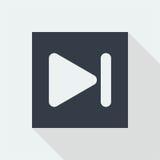 дизайн значка кнопки технологии плоский, значок дизайна музыки студии Стоковые Фотографии RF