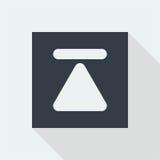 дизайн значка кнопки технологии плоский, значок дизайна музыки студии Стоковые Фото
