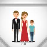 дизайн значка семьи бесплатная иллюстрация
