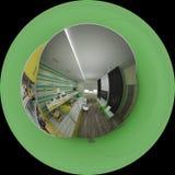 дизайн интерьера иллюстрации 3d комнаты ` s детей Стоковая Фотография