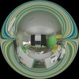 дизайн интерьера иллюстрации 3d комнаты ` s детей Стоковое Фото