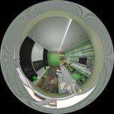 дизайн интерьера иллюстрации 3d комнаты ` s детей Стоковые Изображения RF