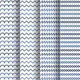 дизайн иллюстрации вектора предпосылки 4 геометрический картин Стоковое фото RF