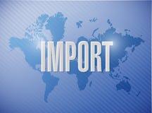 дизайн иллюстрации знака импорта бесплатная иллюстрация