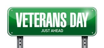дизайн иллюстрации знака столба дня ветеранов иллюстрация вектора