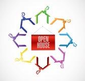дизайн иллюстрации концепции открытого дома Стоковые Изображения