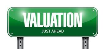 дизайн иллюстрации дорожного знака валюации Стоковые Изображения RF