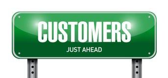 дизайн иллюстрации дорожного знака клиентов Стоковые Фото