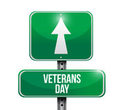 дизайн иллюстрации дорожного знака дня ветеранов иллюстрация вектора