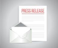 дизайн иллюстрации сообщения почты официального сообщения для печати иллюстрация штока