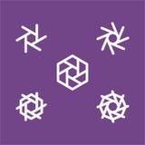 дизайн камеры плоский, дизайн значка сети плоский Стоковые Изображения RF