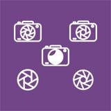 дизайн камеры плоский, дизайн значка сети плоский Стоковое Изображение RF