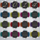 дизайн 2014 предпосылки с металлическими значками Стоковые Изображения RF