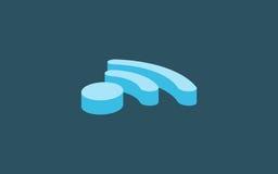 дизайн сигнала wifi равновеликий Бесплатная Иллюстрация